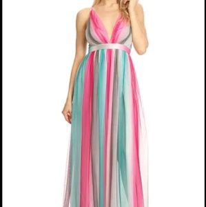 Beautiful magenta and teal sundress